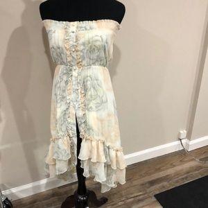 Strapless ruffles dress